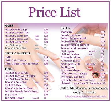 Professional nail salon in manchester hollywood nails for Acrylic nails salon prices